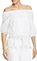 Lauren Ralph Lauren Eyelet Off The Shoulder Top