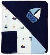 Rene Rofe Bon Bebe 4 Pc Bath Set Bath Blanket & 3 Washcloths (navy) by