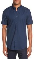 Ben Sherman Men's Textured Dash Print Short Sleeve Shirt