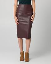 Le Château Leather-Like Midi Pencil Skirt