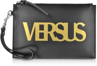 Versus Black Leather Pouch