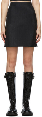 Alexander McQueen Black Metallic Striped Miniskirt