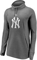 Under Armour Women's New York Yankees Heathered Charcoal Team Mark Performance Tri-Blend Pullover Sweatshirt