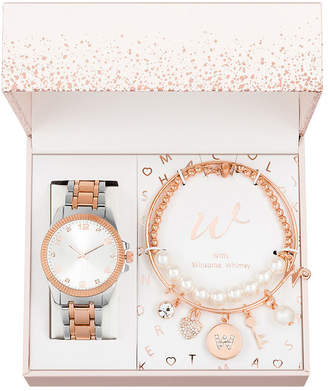 ALEXIS BENDEL Alexis Bendel Womens Two Tone 3-pc. Watch Boxed Set-7589tr-42-B35