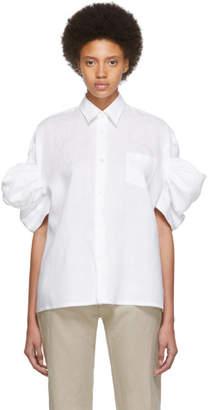 Junya Watanabe White Lawn Short Sleeve Shirt