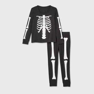 Nobrand Women's Halloween Skeleton Matching Family Pajama Set -