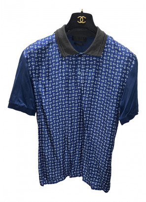 Alexander McQueen Blue Silk Polo shirts