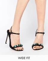 Asos HYDROGEN Wide Fit Heeled Sandals