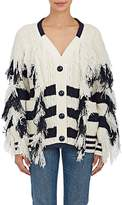 Sacai Women's Striped Wool-Blend Oversized Cardigan