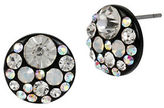 Betsey Johnson Faceted Stone Round Disc Stud Earrings