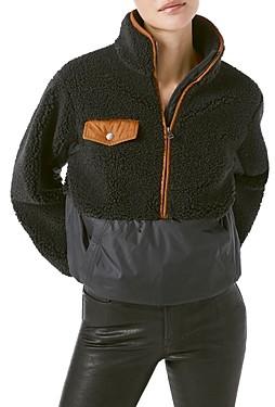 Frame Mixed-Media Pullover Fleece