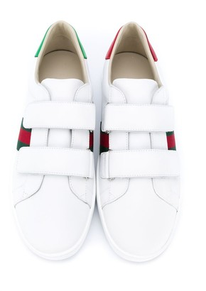 Gucci Children TEEN Ace touch-strap sneakers