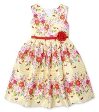 Nannette Girls Spring Shantung Easter Dressy Dress With Surplus Neckline, Sizes 4-6X