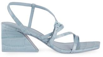 Mercedes Castillo Kelise Croc-Embossed Leather Sandals