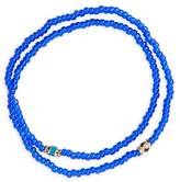 Luis Morais Sapphire and Gold Double Strand Stretch Bracelet