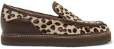 See by Chloe Leather-trimmed Leopard-print Calf Hair Loafers - Leopard print