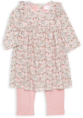 Petit Bateau Baby Girl's All-In-One Floral Dress & Legging