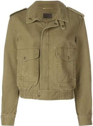 Saint Laurent patch pockets military jacket