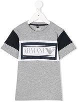 Armani Junior colour block t-shirt - kids - Cotton - 4 yrs