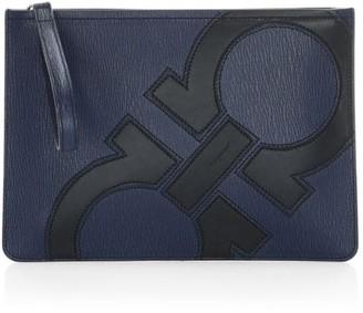 Salvatore Ferragamo Revival Leather Pouch