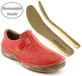 Comfortiya Women's Jannice Leather Loafer Slip-On Flat Walking Shoe Size 37 M EU / 6-6.5 B(M) US