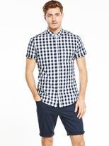 V by Very Short Sleeve Gingham Shirt