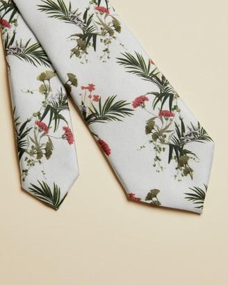 Ted Baker Floral Print Silk Tie