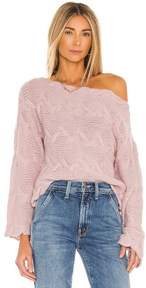 House Of Harlow x REVOLVE Elaina Braided Sweater
