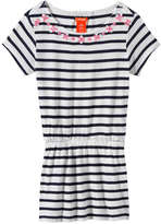Joe Fresh Kid Girls' Multi-Stripe Tunic, Navy (Size M)