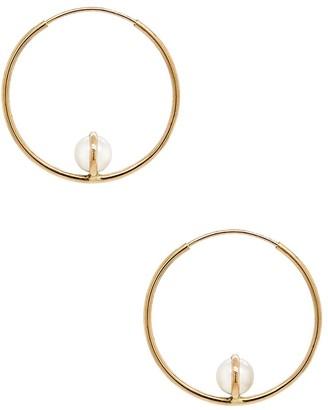Cyril Studio Luna Hoop Yellow Gold Earrings