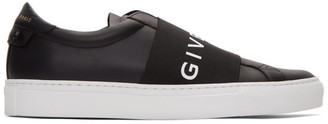 Givenchy Black and White Elastic Urban Street Sneakers