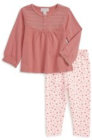 Pumpkin Patch Embroidered Top & Pants Set (Baby Girls)