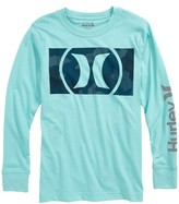 Hurley Boy's Camofill Reflective Graphic Long Sleeve T-Shirt