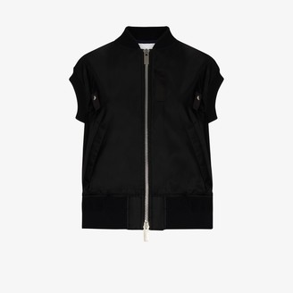 Sacai Short Sleeve Shell Bomber Jacket
