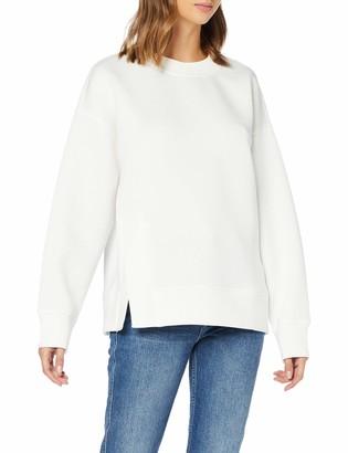 Benetton Women's Felpa Chiusa Plain Regular Fit Long Sleeve Sweatshirt
