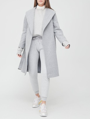 Very Belted Wrap Coat - Grey