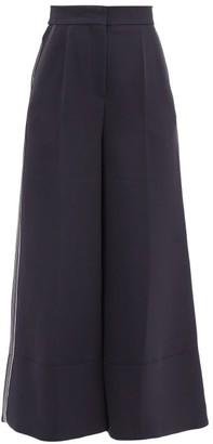 Roksanda Hasani High-rise Cady Culottes - Navy Multi