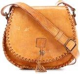 Bed Stu Half Moon Tasseled Whip-Stitched Saddle Bag