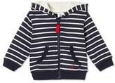 Petit Bateau Baby boys zippered striped sweatshirt