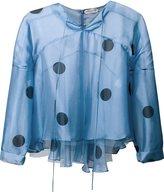 Natasha Zinko sheer polka dot blouse