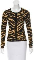 Karen Millen Tiger Printed Knit Cardigan