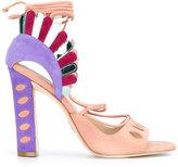 Paula Cademartori 'Lotus' sandals - women - Leather/Suede - 36