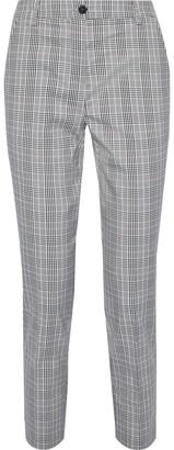 Iris & Ink Cherry Checked Woven Straight-leg Pants