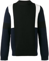 Marni colour block knitted jumper - men - Cotton - 48
