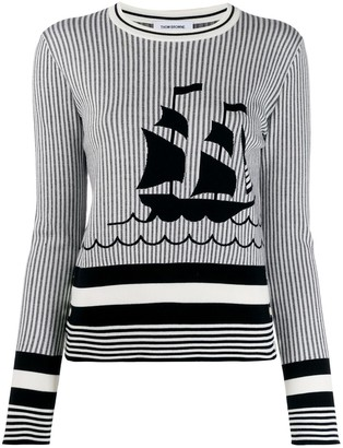 Thom Browne Striped Graphic Print Jumper
