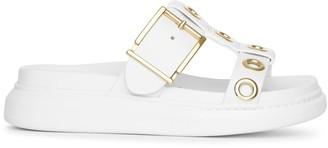 Alexander McQueen White hybrid slide sandal