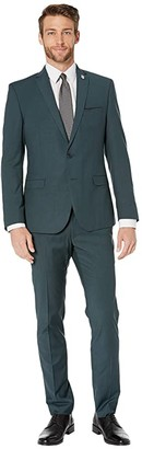Nick Graham Solid Suit (Green) Men's Suits Sets