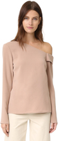 Tibi Asymmetrical Off the Shoulder Top