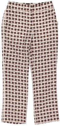 Louis Vuitton Brown Silk Trousers
