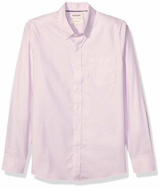 Goodthreads Amazon Brand Men's Slim-Fit Long-Sleeve Comfort Stretch Oxford Shirt with Easy Care
